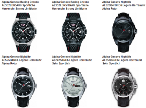 Alpina Armbanduhren