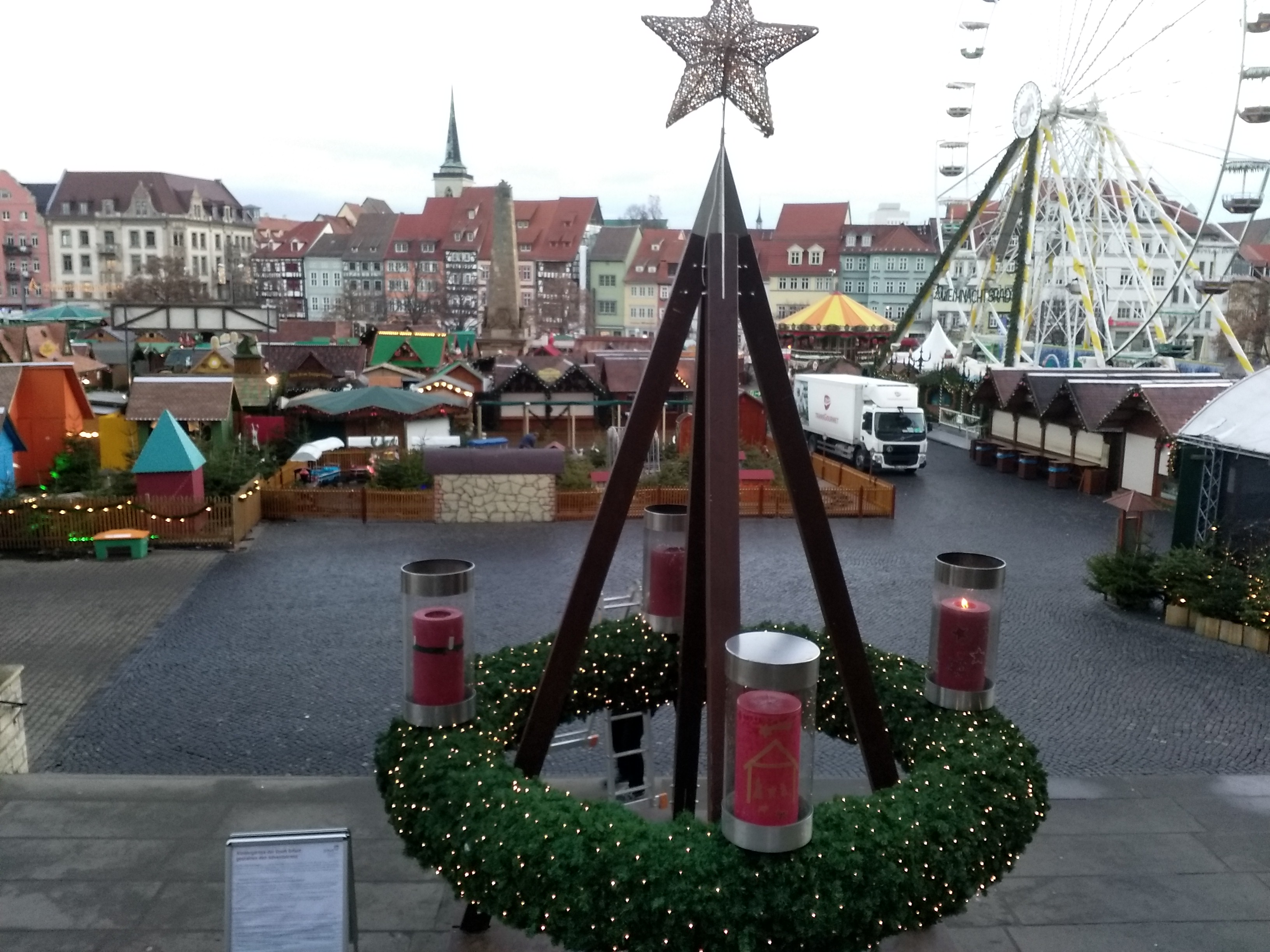 Erfurter Adventskranz Domstufen