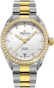 Alpina Geneve Armbanduhr Comtesse Automatic AL-525STD2CD3B für Damen. Eine Automatikuhr mit vielen echten Diamanten.