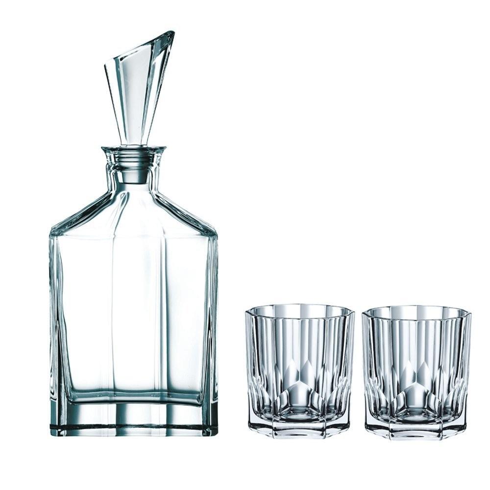 Karaffe Glaskaraffe Whiskykaraffe 900ML KROSNO KARAFFE Dekanter Weinkaraffe Glas