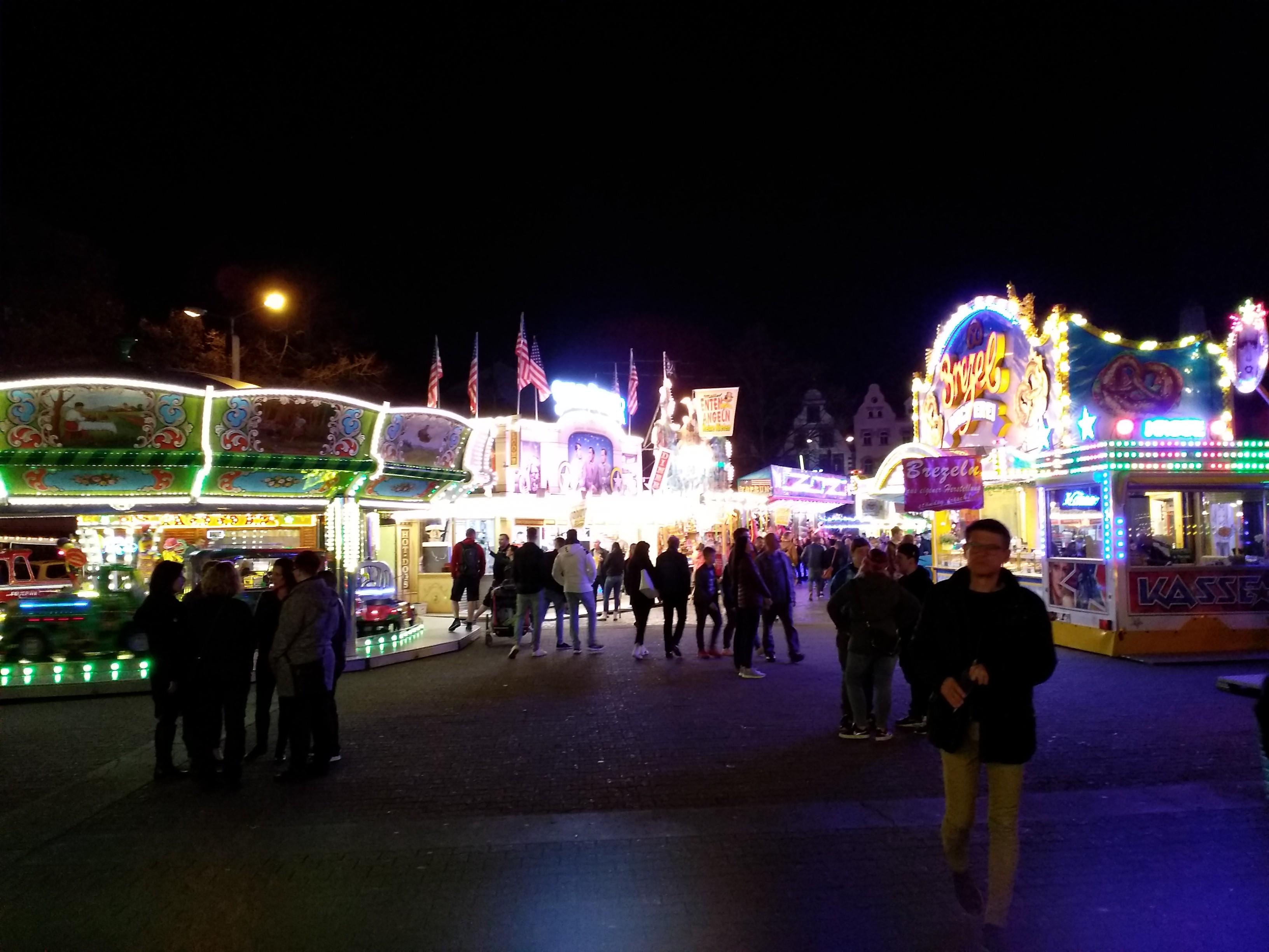 Frühlingsfest Erfurt am Abend