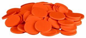 Einkaufswagenchips Kunststoff orange