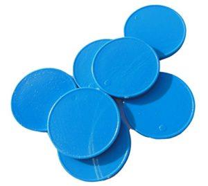 Einkaufswagenchips Kunststoff blau
