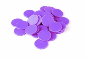 Einkaufswagenchips Kunststoff lila