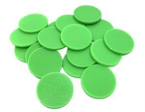 Einkaufswagenchips Kunststoff grün