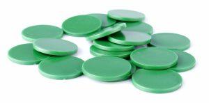 Einkaufswagenchips Kunststoff sattgrün