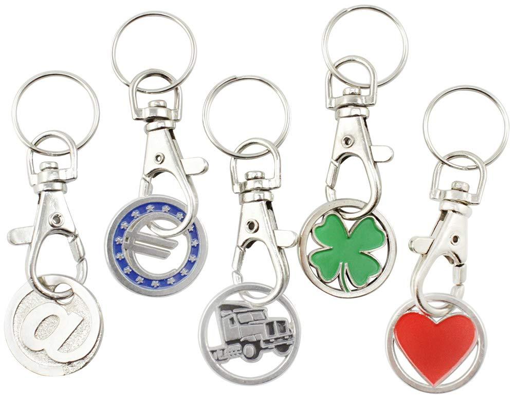 Einkaufswagenchips Metall Schlüsselanhänger