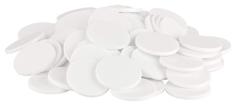 Einkaufswagenchips Kunststoff weiß
