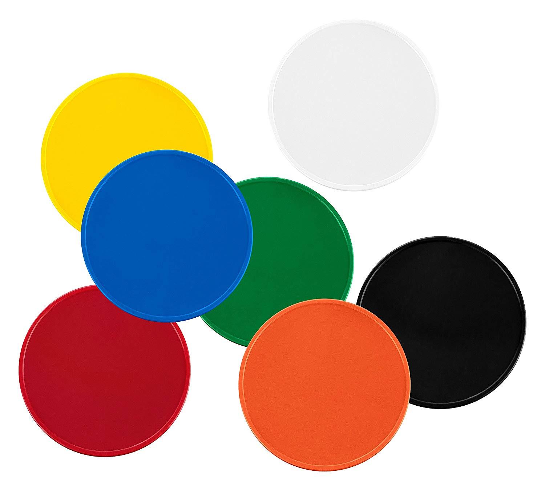 Einkaufswagenchips Kunststoff verschiedene Farben gelb rot blau grün orange weiß schwarz