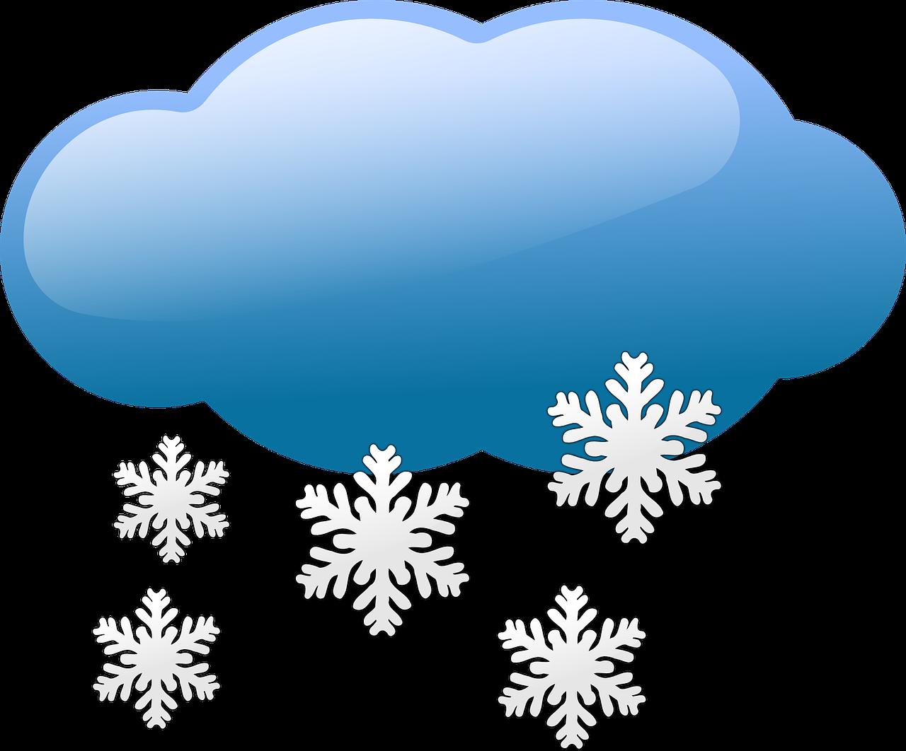 Schneefall in Erfurt