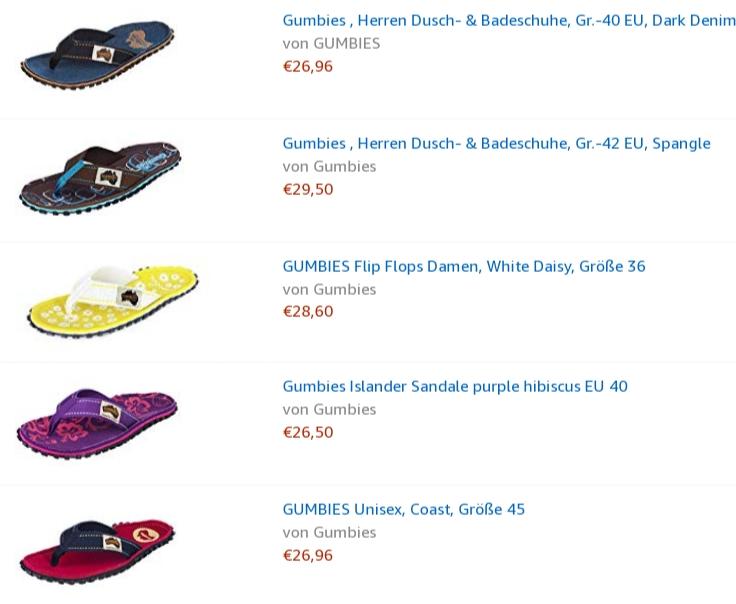 Gumbies Flip Flops Online kaufen