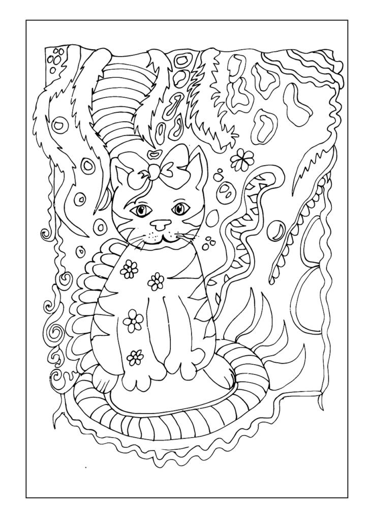 katzen ausmalbilder zum ausdrucken kostenlos  malbuch