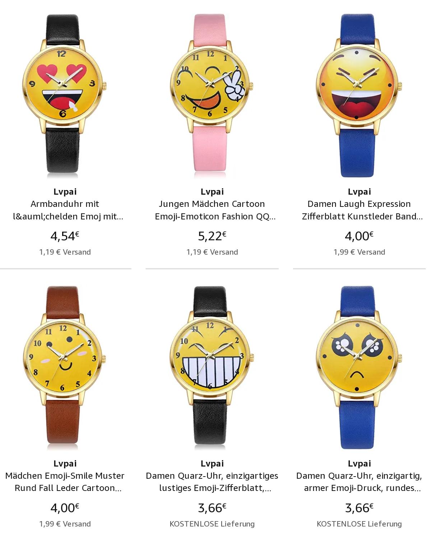 Smiley Armbanduhr günstig Online kaufen