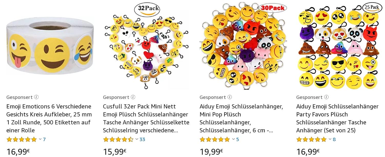 Emoji Schlüsselanhänger und Smileys auf Amazon kaufen