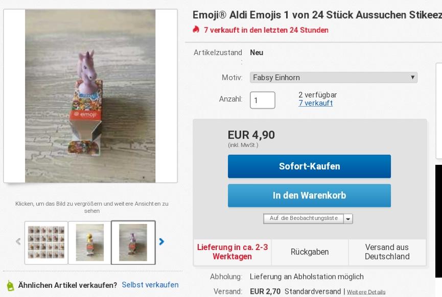 Fabsy emoji auf eBay