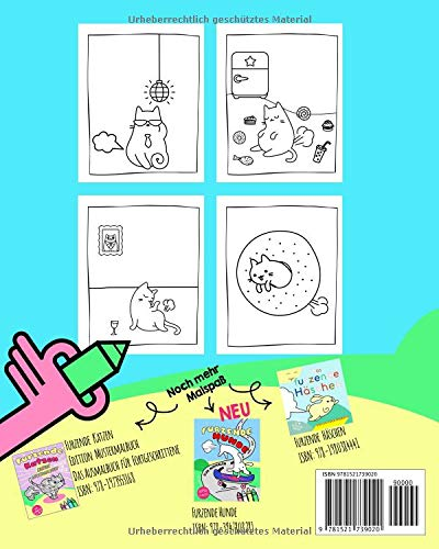 Katzen Malbuch Furzende Katzen