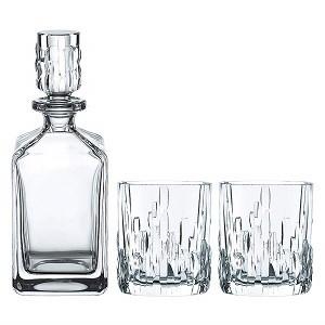 Whisky-Karaffe, zwei Gläser, Whisky-Set, 3-teilig, Spiegelau und Nachtmann