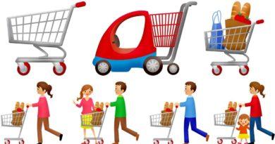 Schlüsselanhänger mit Einkaufswagenchip, Einkaufswagenchip zum Rausziehen, Metall.