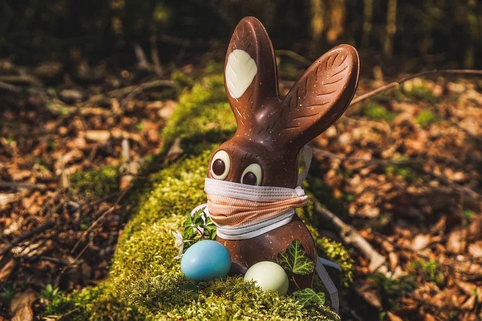 Bunter Mundschutz, Mundschützer in tollen Farben Online bestellen und gleich kaufen, frohe Ostern, Hase, Easter, Virus