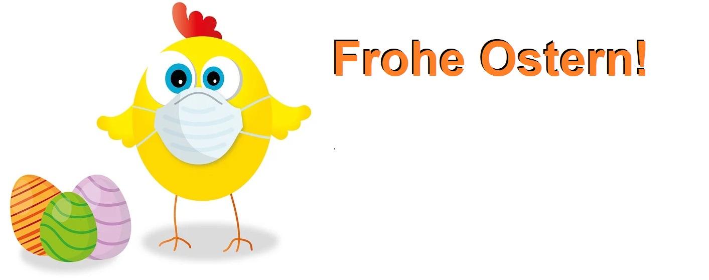 Schicker Mundschutz, Mundschutzmode für Kinder, Damen und Herren, Frohe Ostern.
