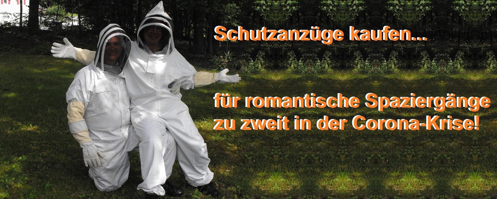 Schutzanzüge kaufen für romantische Spaziergänge zu zweit in der Corona-Krise! Schutzanzug Online bestellen!