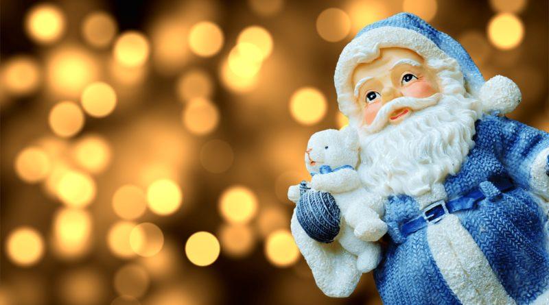 Weihnachtsmann-Mundschutz, Mundschutz mit dem Weihnachtsmann als Motiv