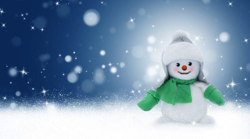 Mundschutz mit Schneemannmotiv | Mund-Nasen-Schutz mit Schneemann als Motiv